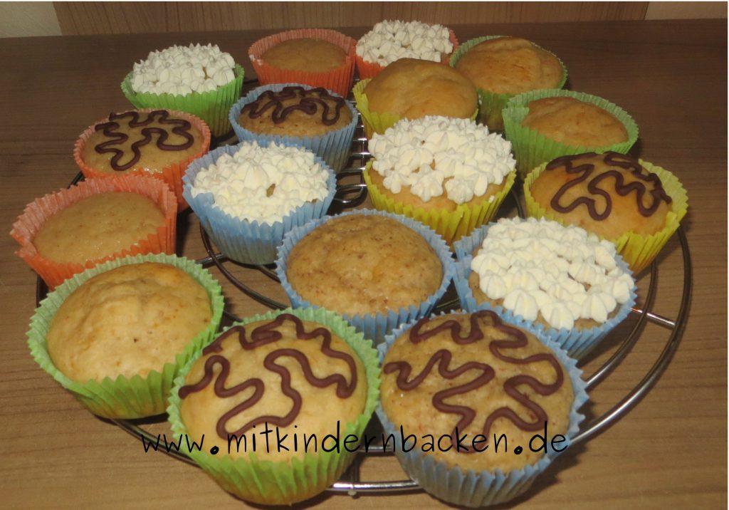 Buttermilchmuffins mit Honig, zuckerfrei und eifrei