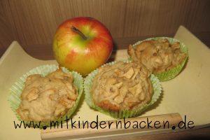 eifreie und zuckerfreie Apfelmuffins