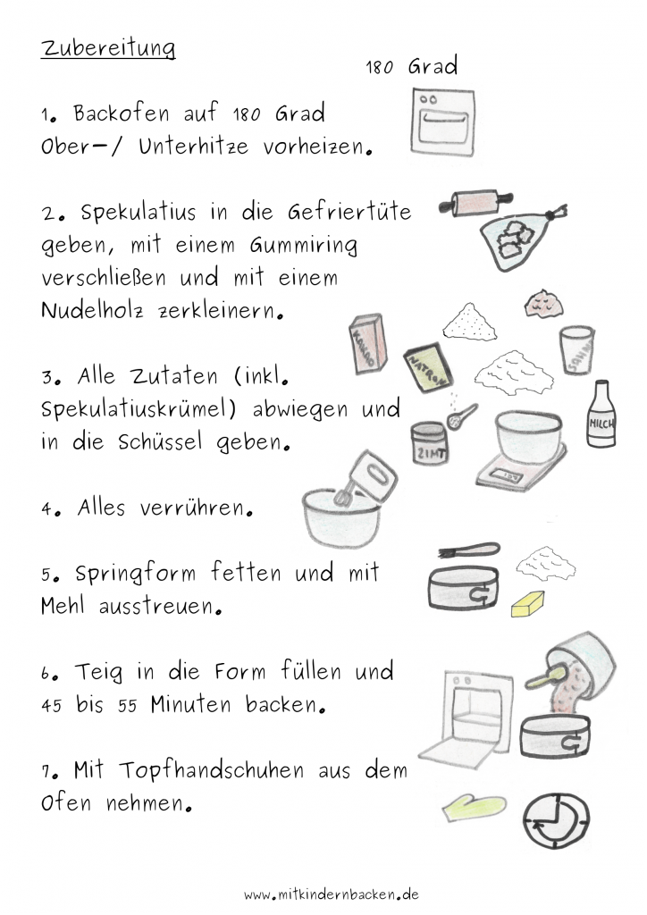 Zubereitungsschritte für Schoko-Zimt-Kuchen ohne Ei Weihnachtskuchen