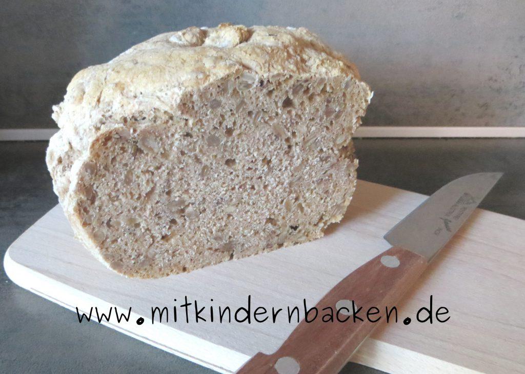 Vollkornbrot Brot ohne Hefe mit Backpulver