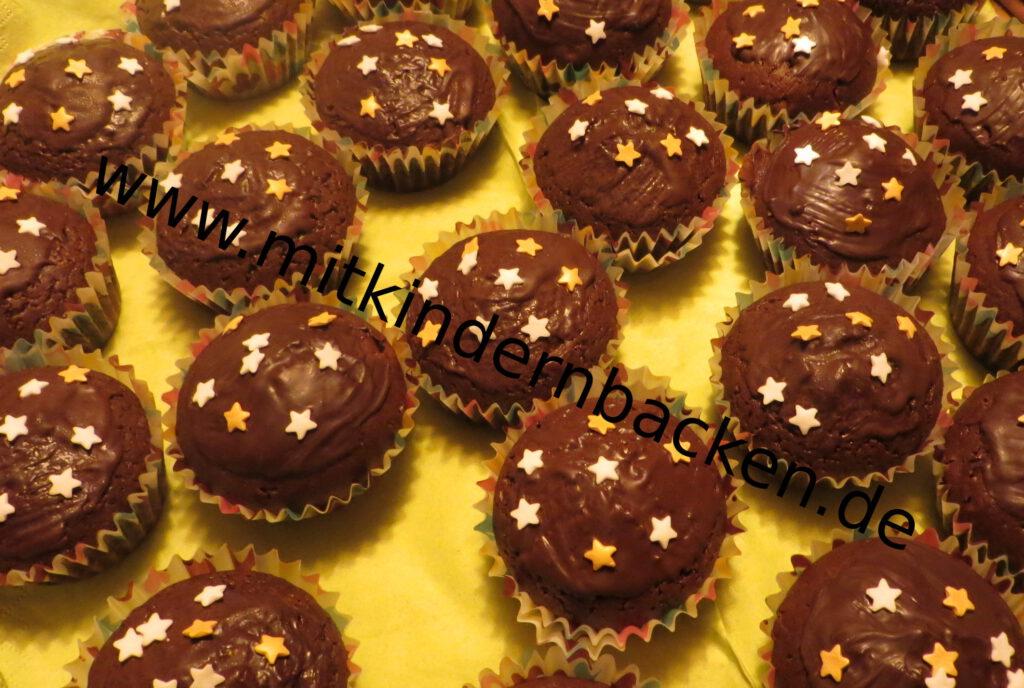Muffins mit Sternen
