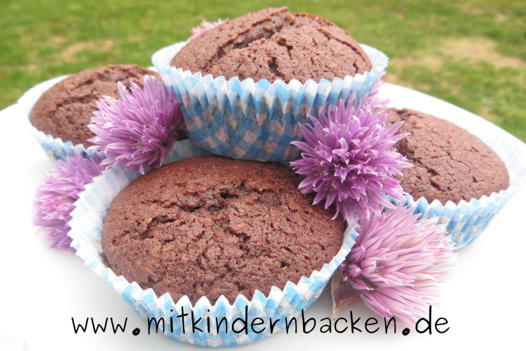 Muffins glutenfrei mit Schokolade und Nüssen