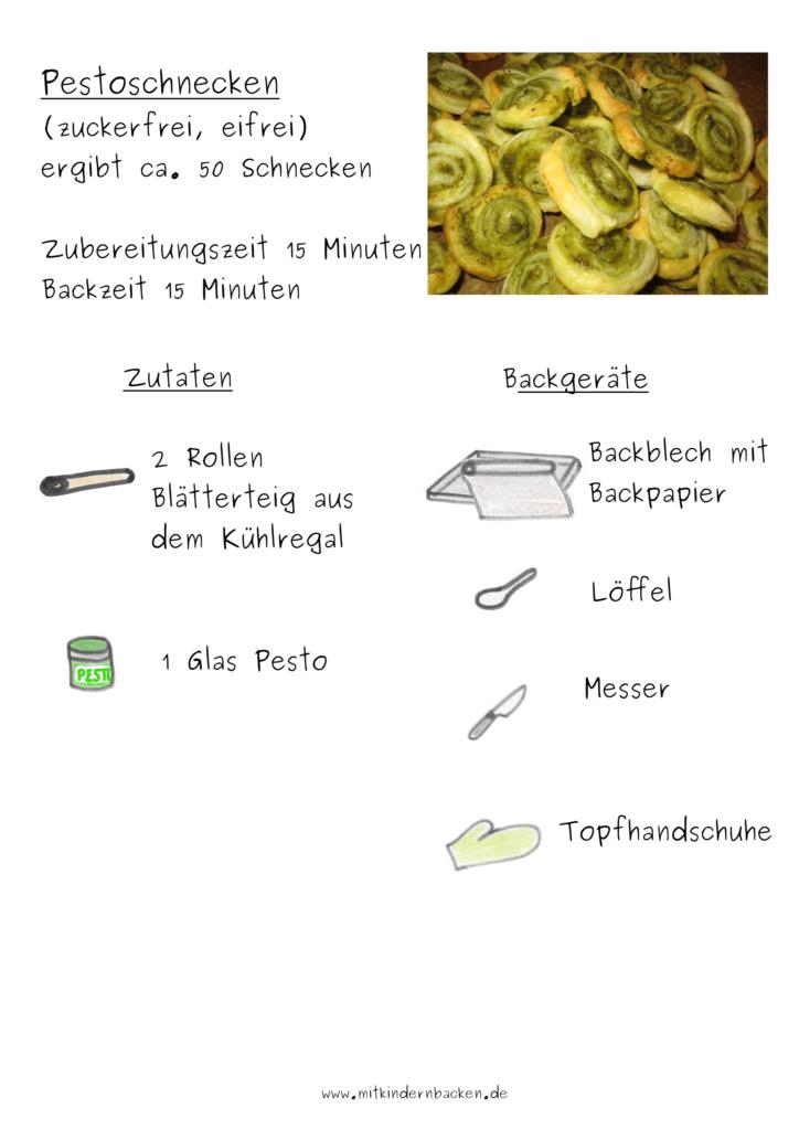 Pestoschnecken Zutaten