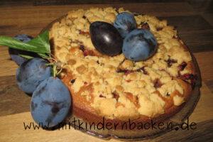 Rührkuchen mit Zwetschgen und Streuseln, Zwetschgenkuchen