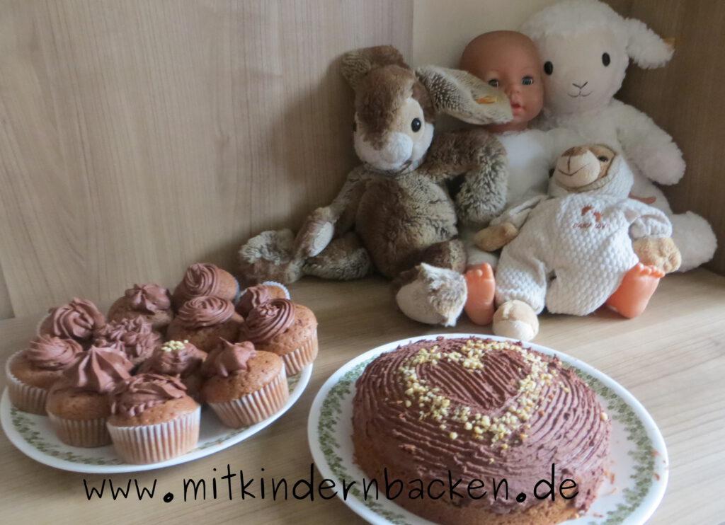 Mit Kindern und Puppen backen - Canachemuffins