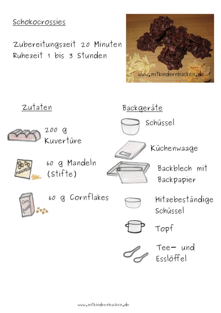 Zutaten für Schokocrossies