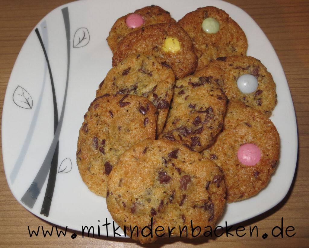 Eifreie Kekse mit Leinsamen und Scholade ohne Ei