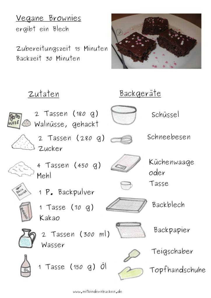 Zutaten für vegane Brownies