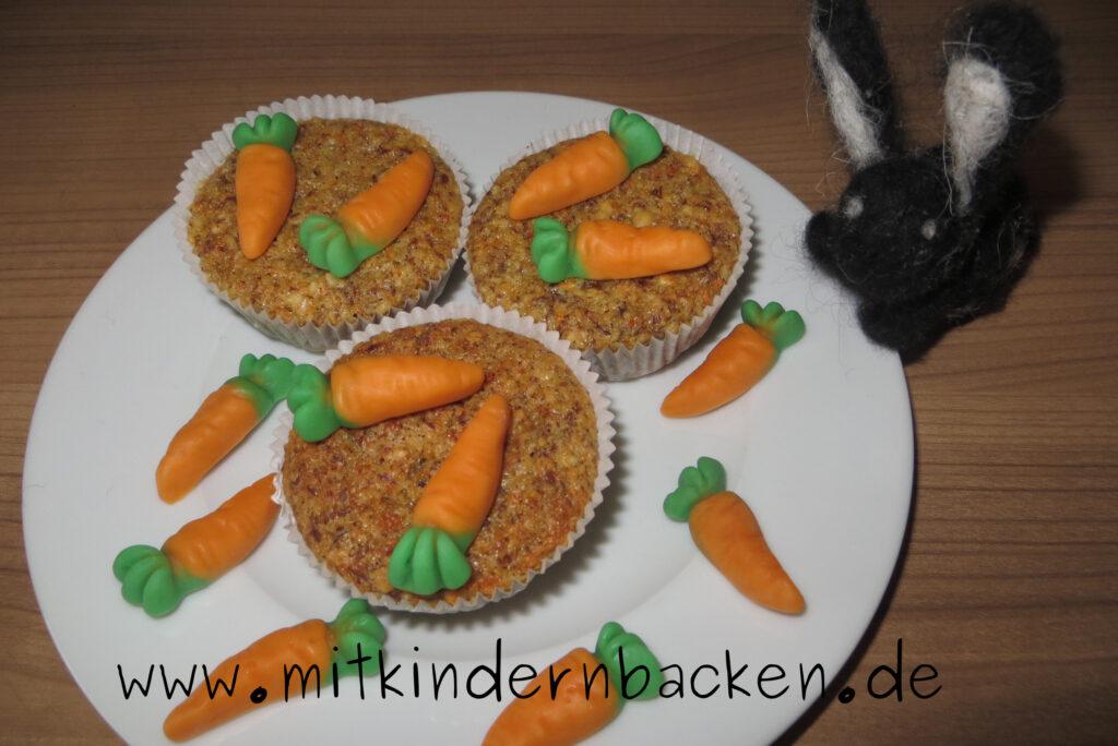 Karottenmuffins mit Nüssen, vegan