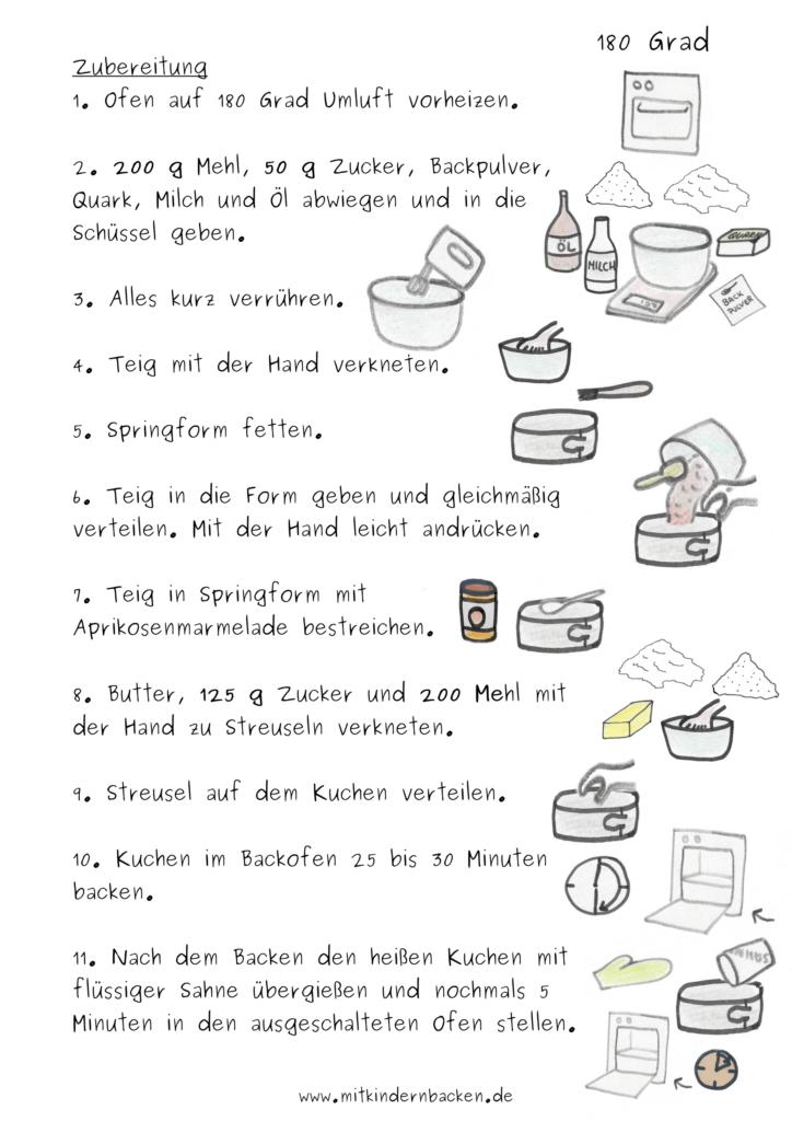 Zubereitungsschritt für eifreien Streuselkuchen mit Quark-Öl-Teig