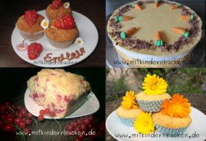 Rezepte für den Sommer, Erdbeermuffins, Arancatorte, Johannisbeerkuchen, Ringelblumenmuffins