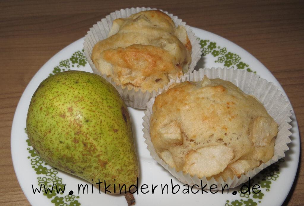 Vegane Birnenmuffins ohne Zucker
